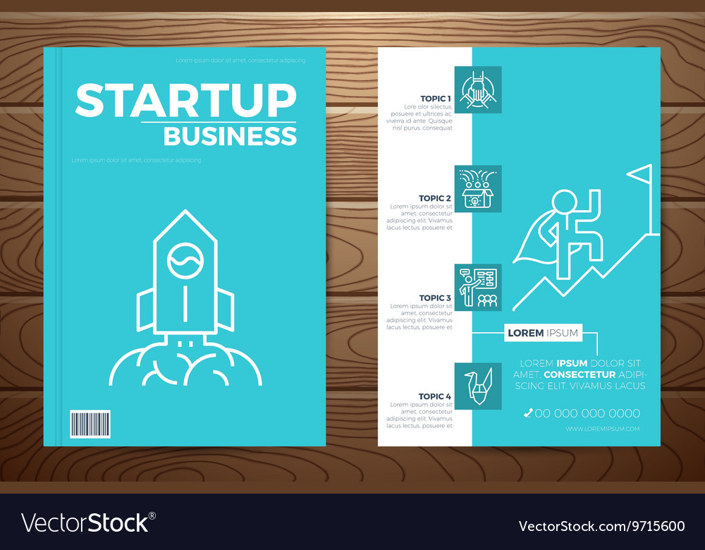 Startup business book cover vector image