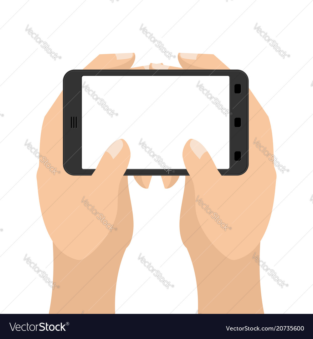 Two hand and tablet smartphone man is holding