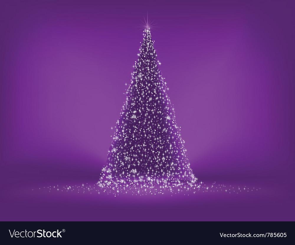 Abstract Purple Christmas Tree Royalty Free Vector Image