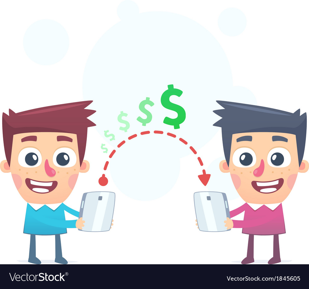 Easy Way To Send Money Vector Image