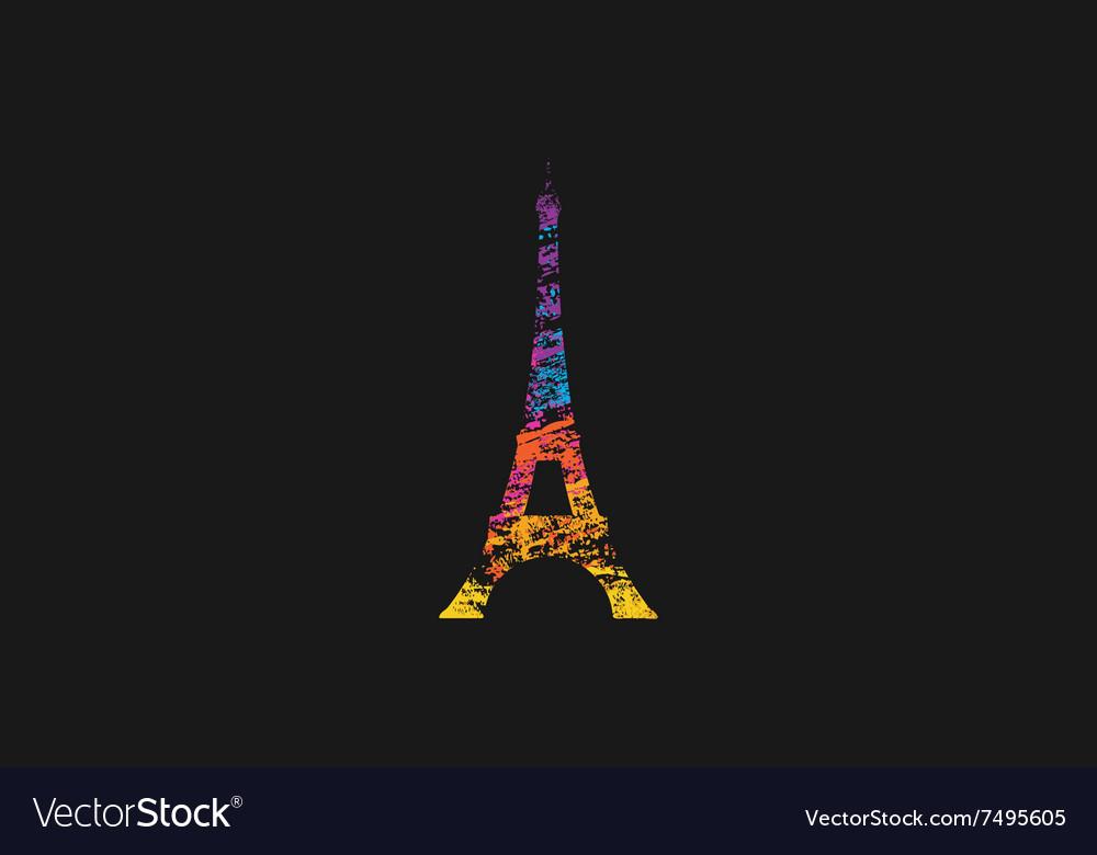 Eifel tower Paris France Rainbow Eifel tower