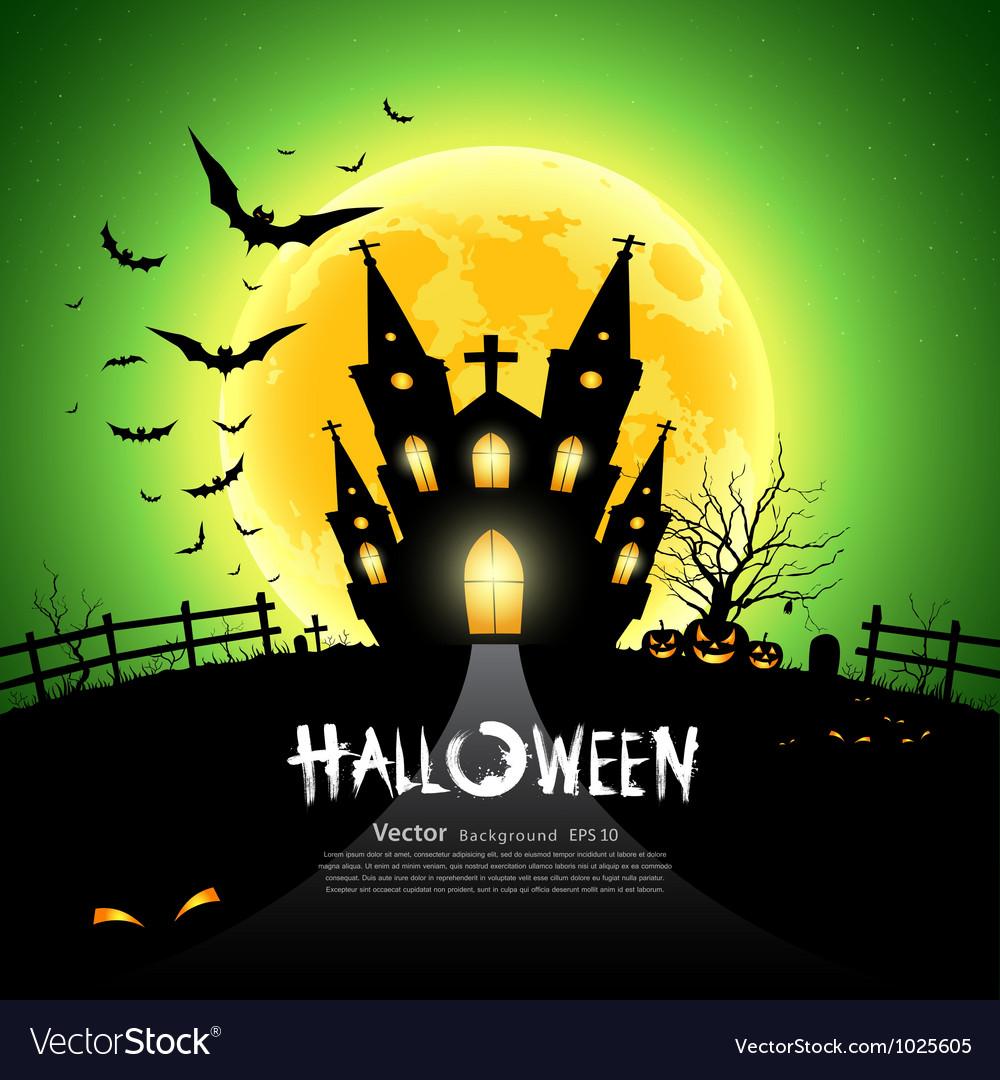 Happy Halloween green background