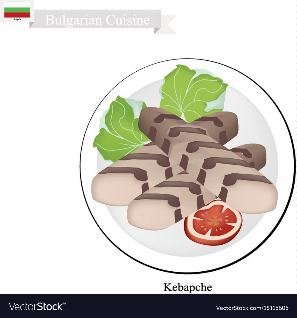 Kebapche or meat patties popular dish of bulgaria