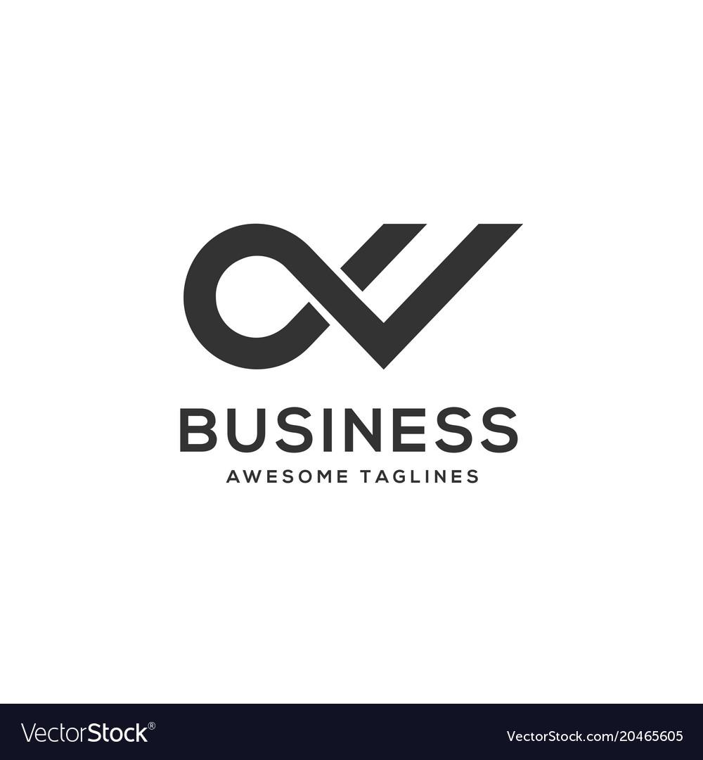 Letter dv luxury black and white logo