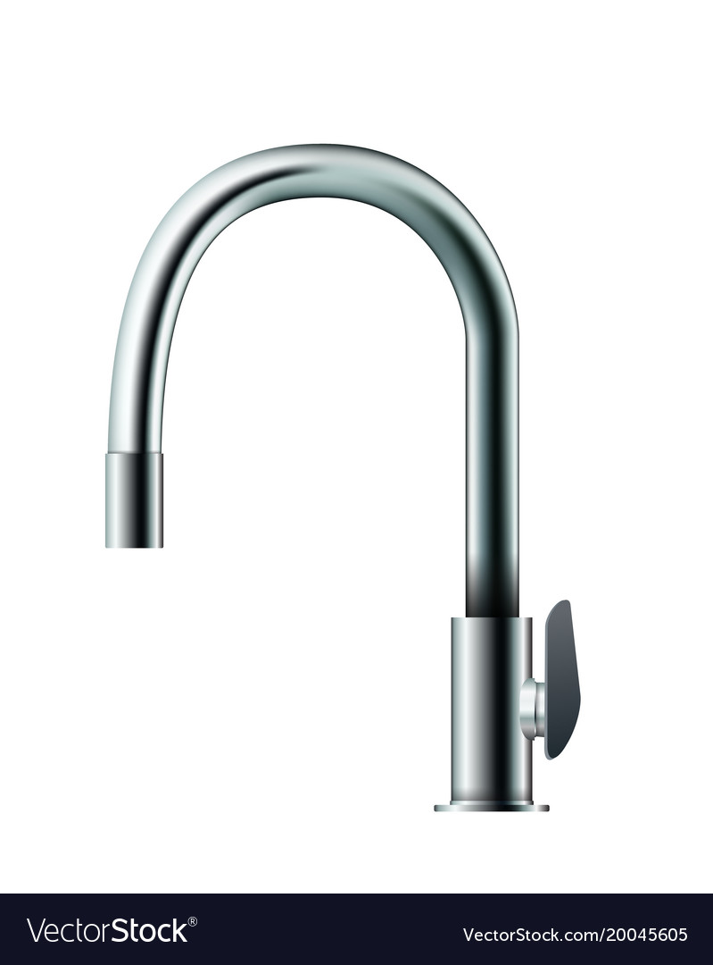 Metal mixer tap faucet Royalty Free Vector Image