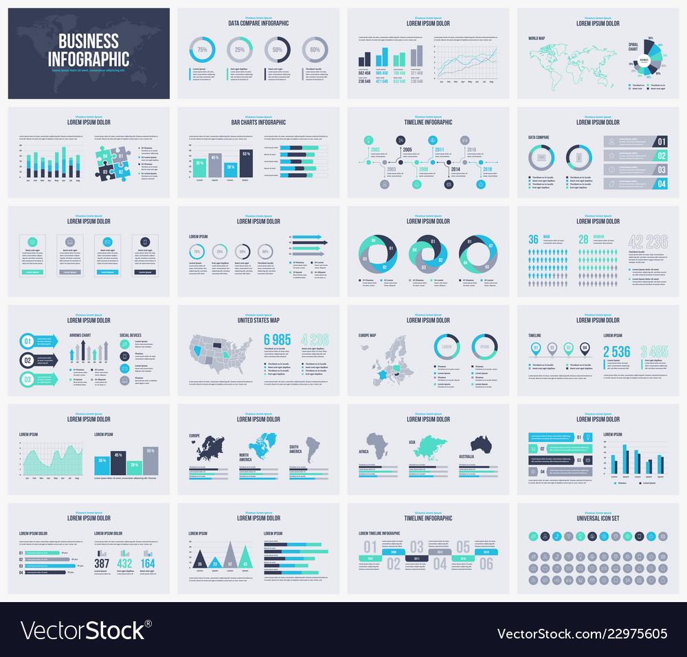 Multipurpose presentation template infographic