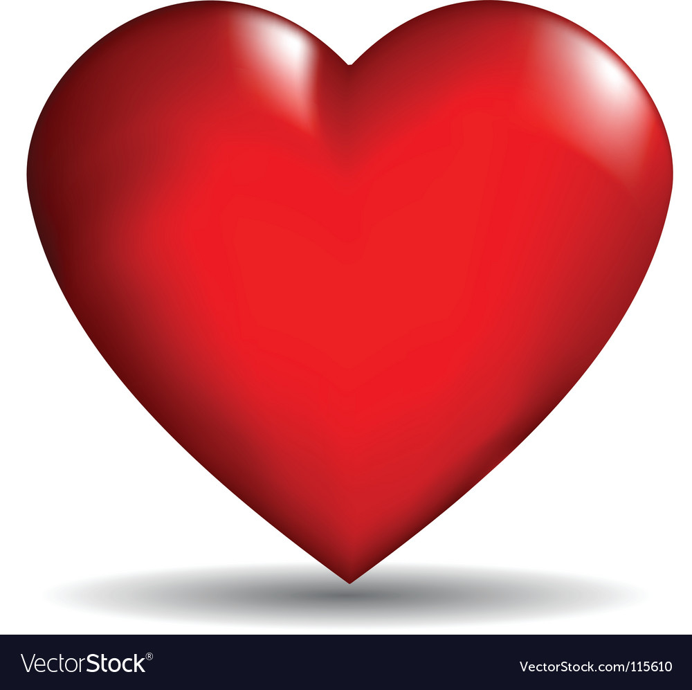 3d Heart Royalty Free Vector Image