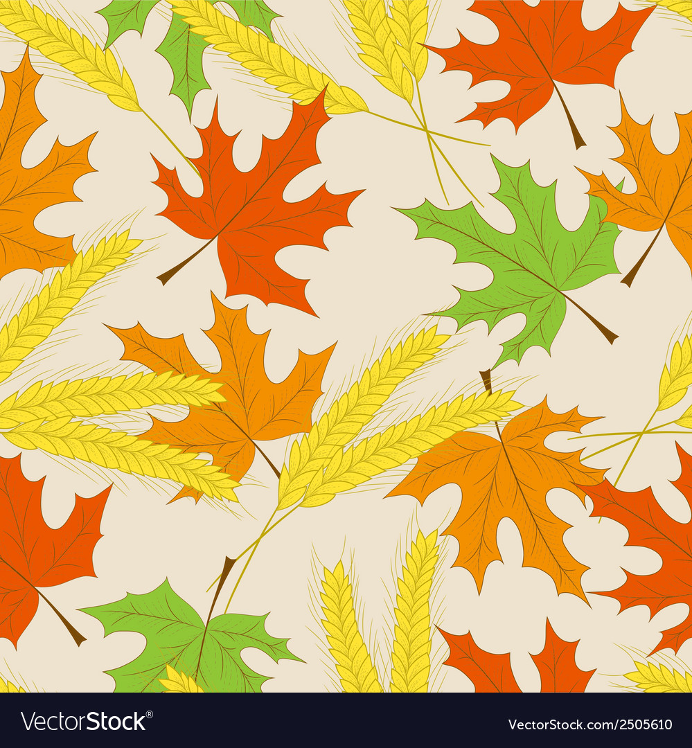 Autumn seamless pattern can be used for wallpaper