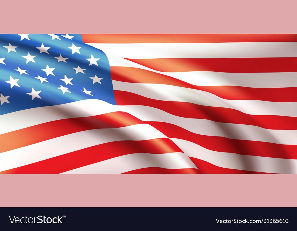Background waving in wind american flag