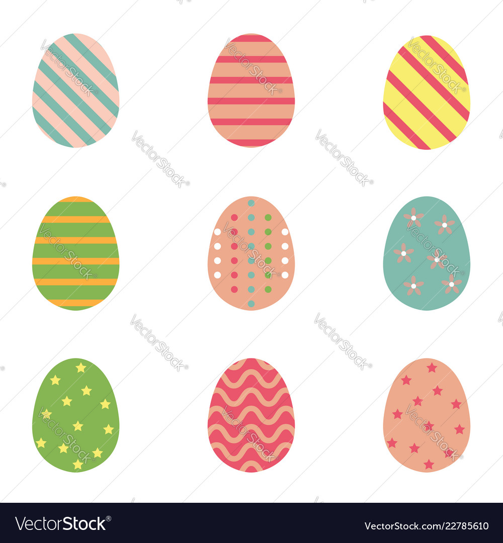 Color easter eggs for spring holiday