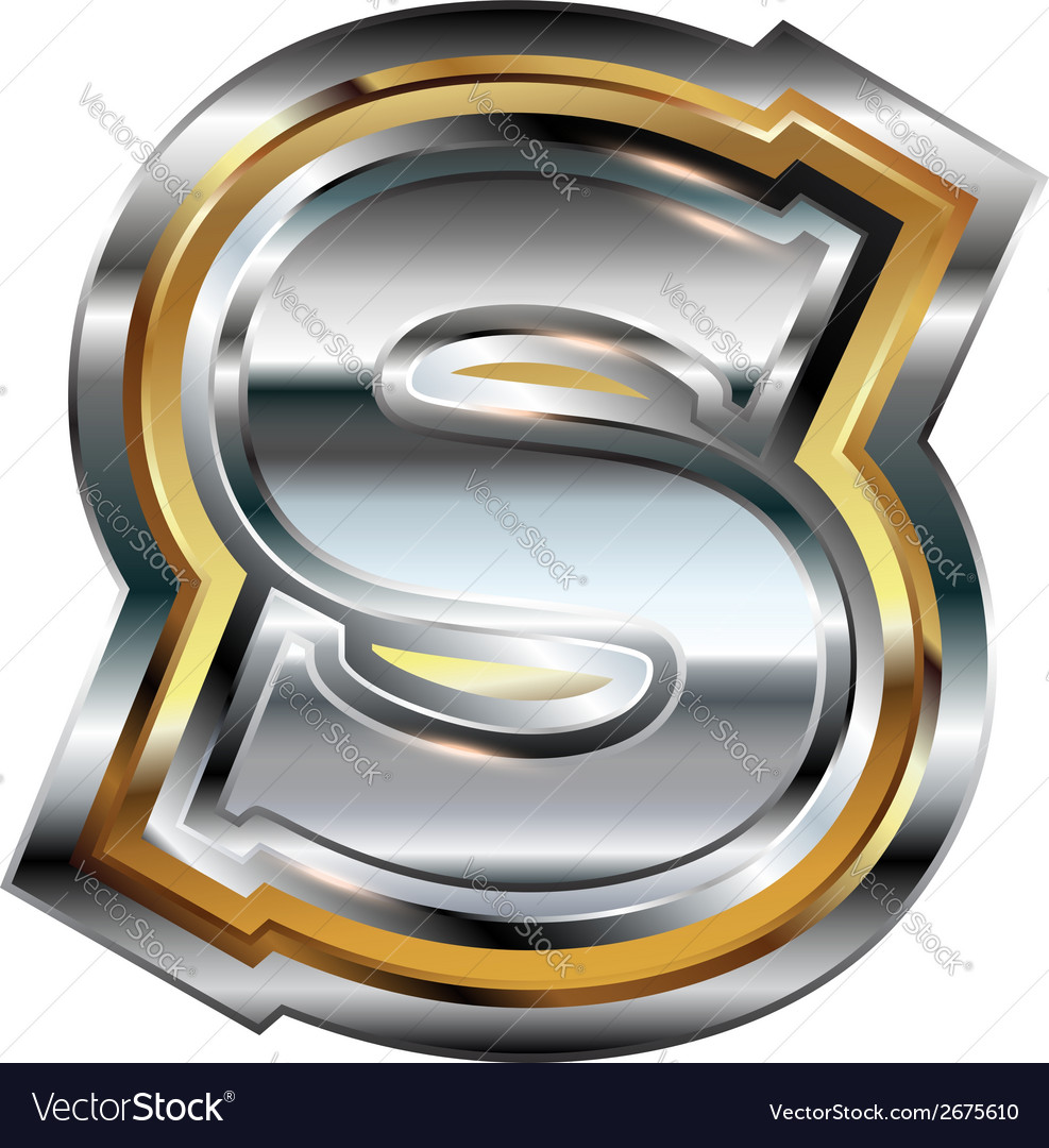 Fancy font Letter S vector image