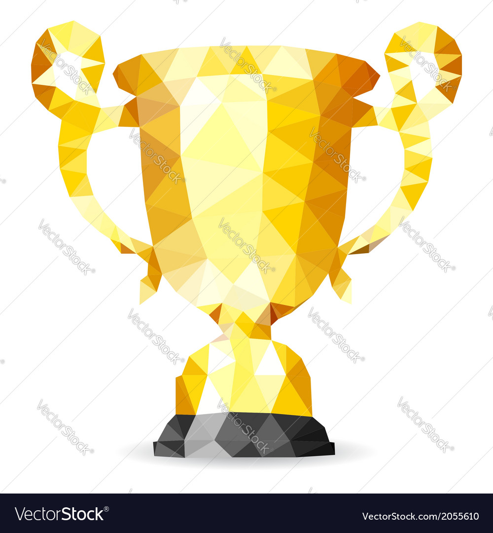 gold trophy royalty free vector image vectorstock