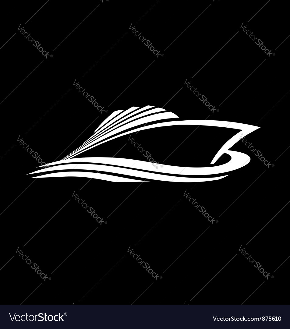 Sea Cruise logo vector image