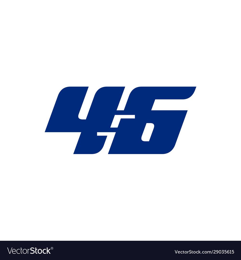 46 logo sports blue