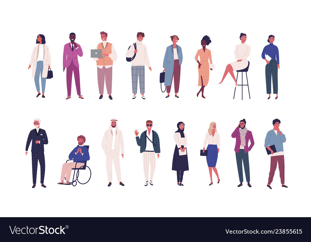 Collection of business people entrepreneurs or