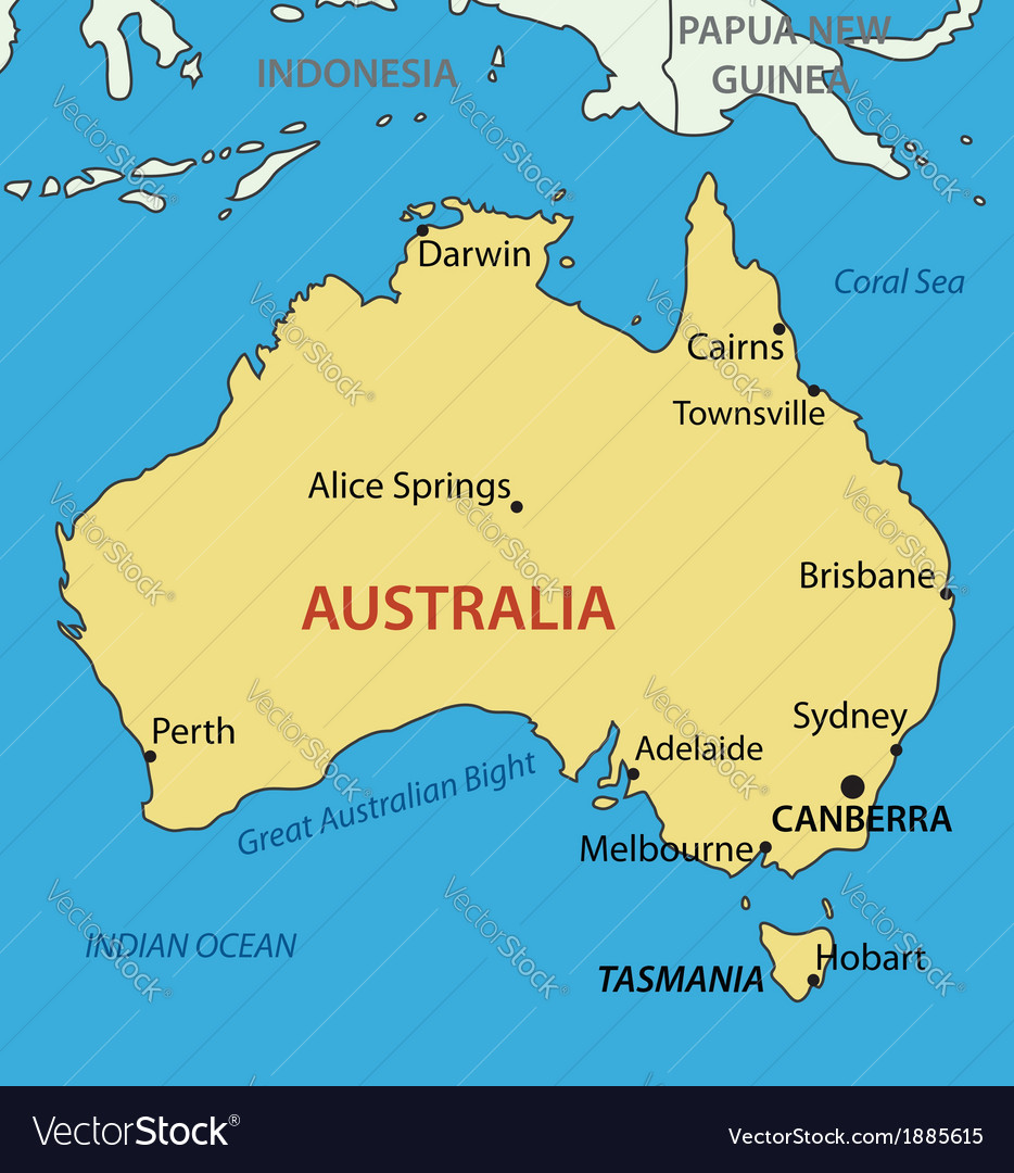 Australia On A Map.Commonwealth Of Australia Map