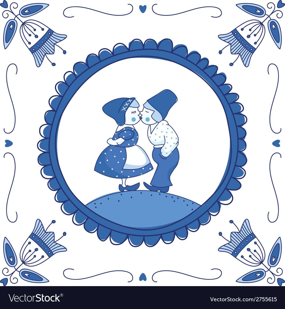 Delft blue children