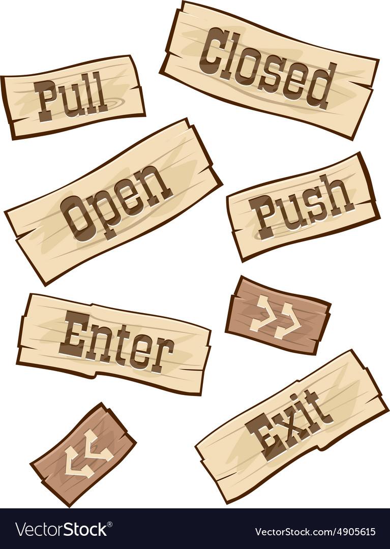 Door Signs western