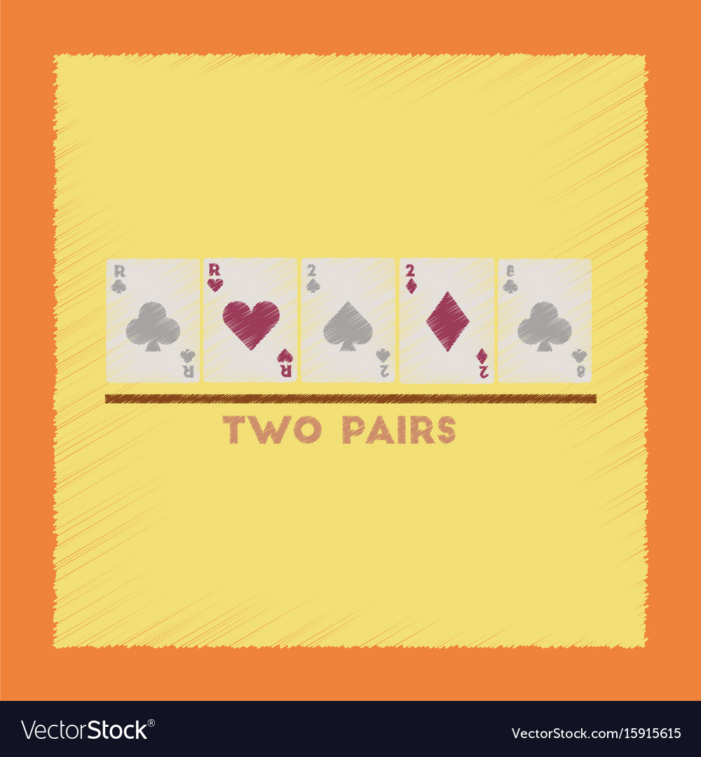Flat shading style icon two pairs vector image