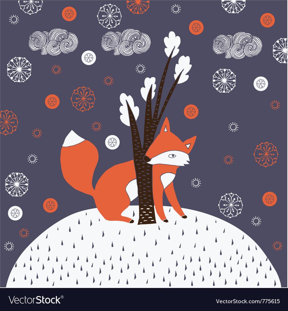 Fox Drawn Background