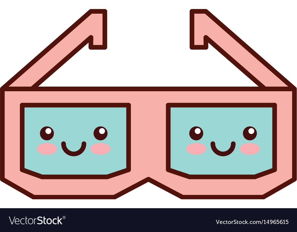 Glasses 3d kawaii character