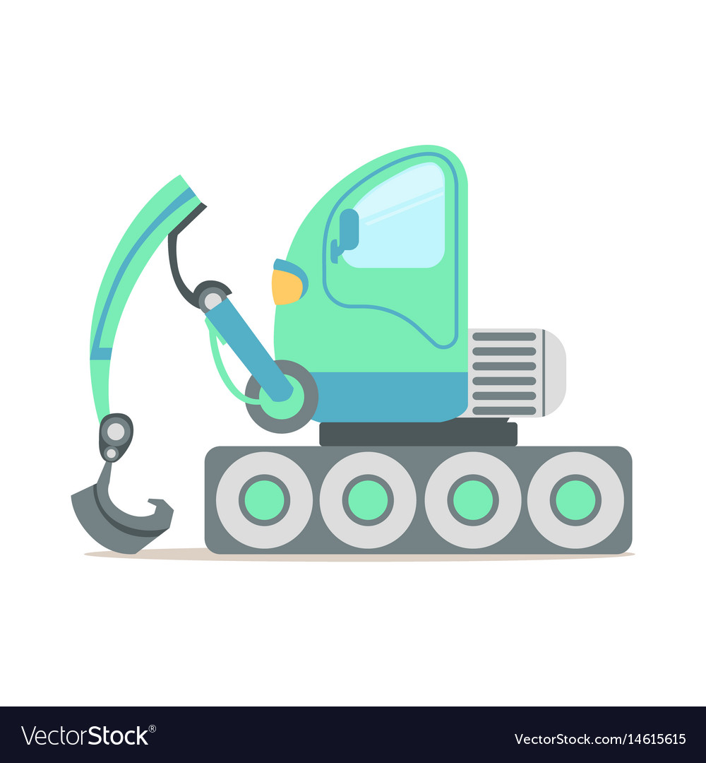 Green excavator truck construction machinery