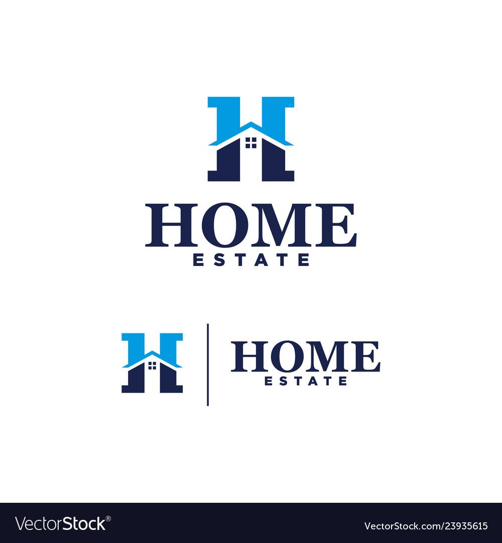 Logo home estate on white background