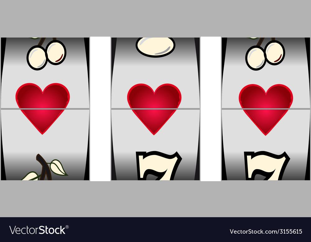 Love slot vector image