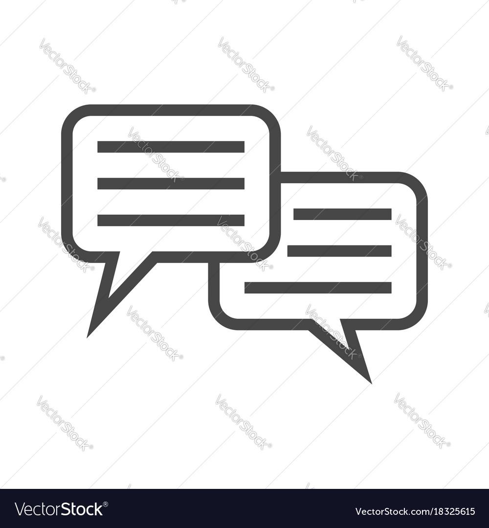 Speech bubble thin line icon