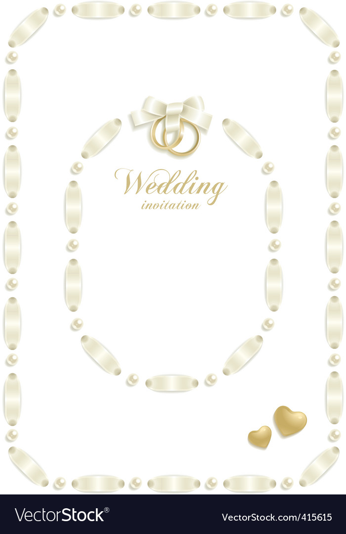 Wedding ribbon frame