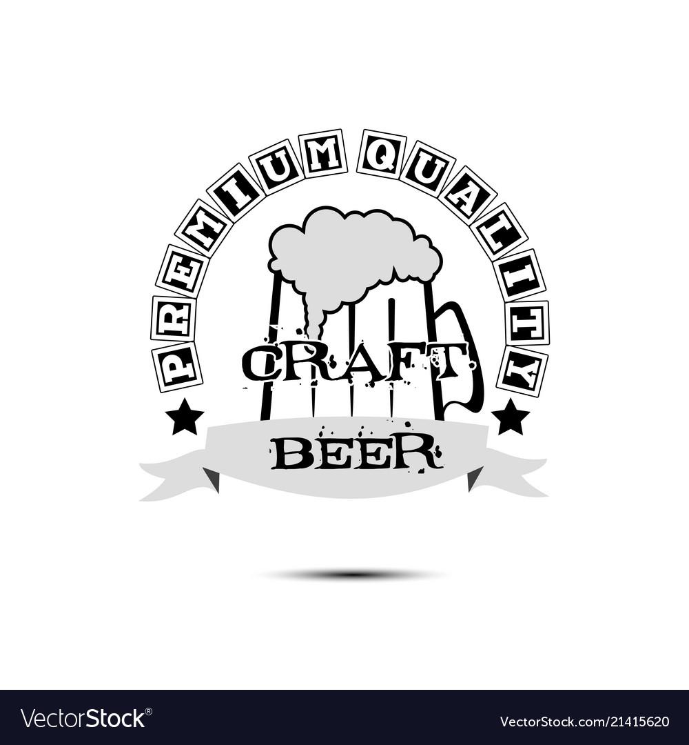 Beer craft logo template design