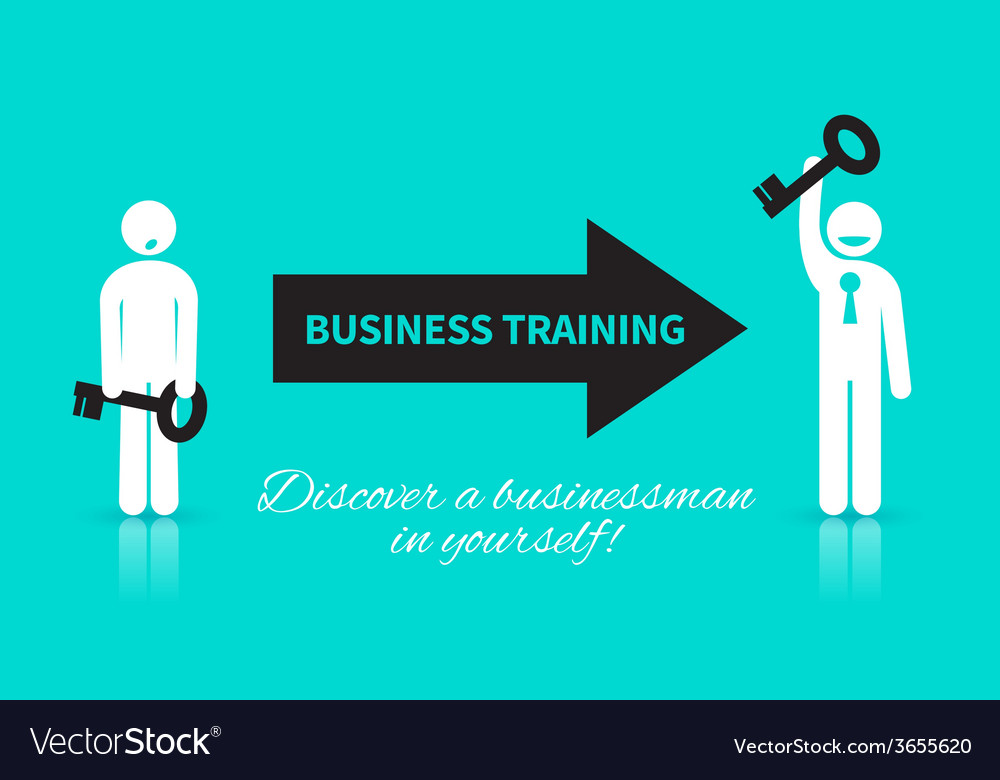 Business icon of man with a key vector image