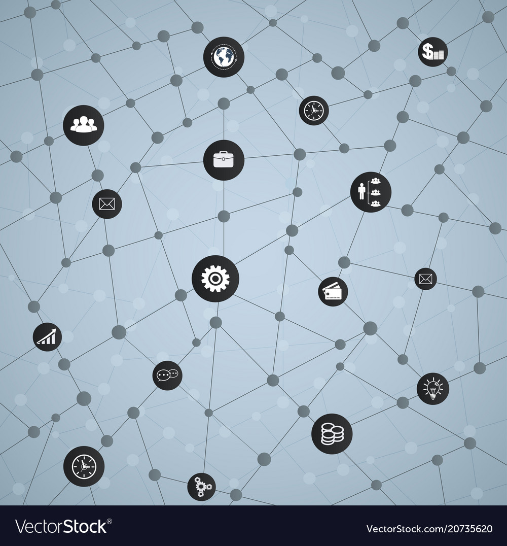 Economic structure of networks with icons