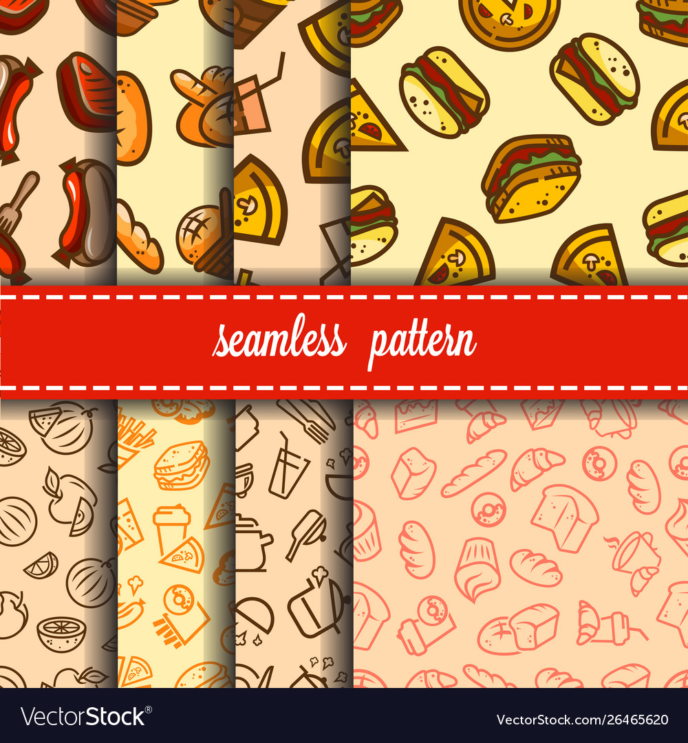 Fast food patterns set