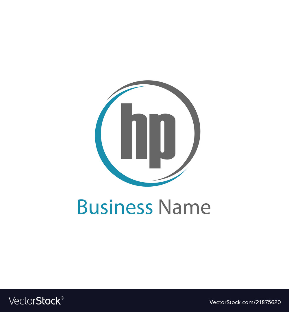 initial letter hp logo template design royalty free vector