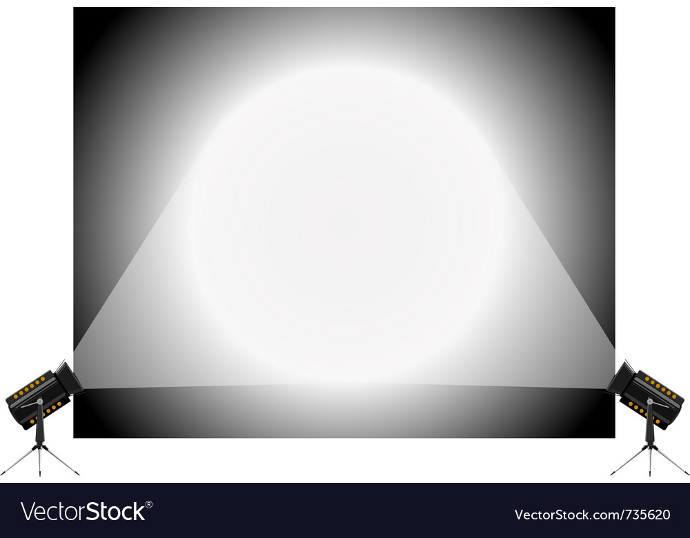 Stand and spotlights vector image
