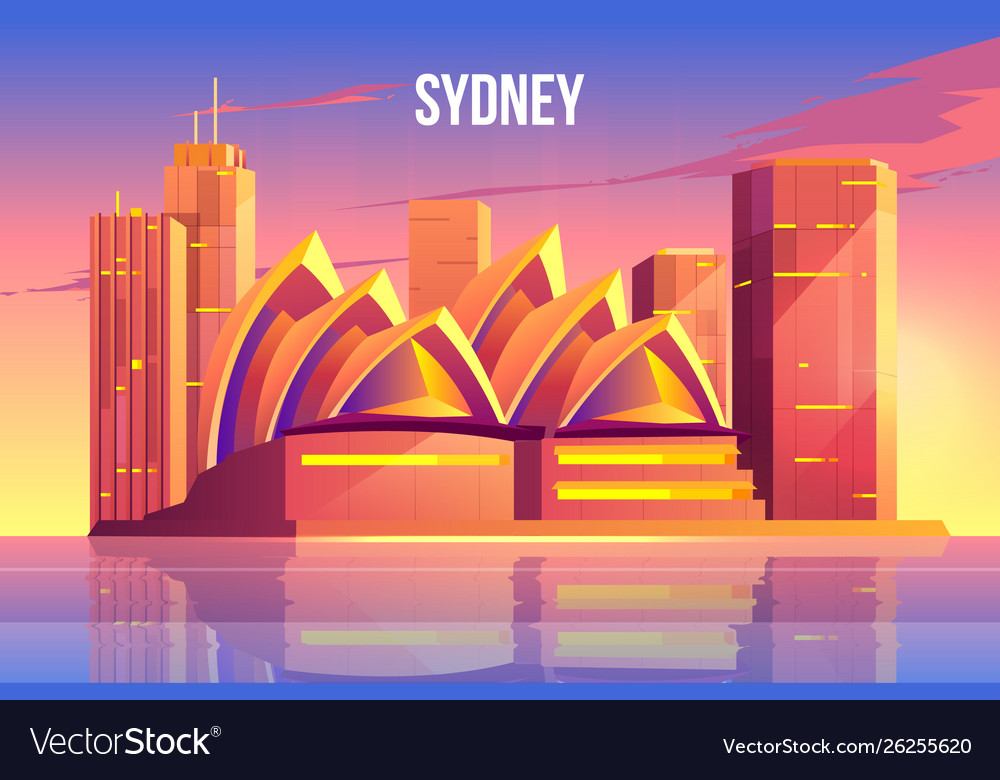 Sydney city skyline australia famous architecture