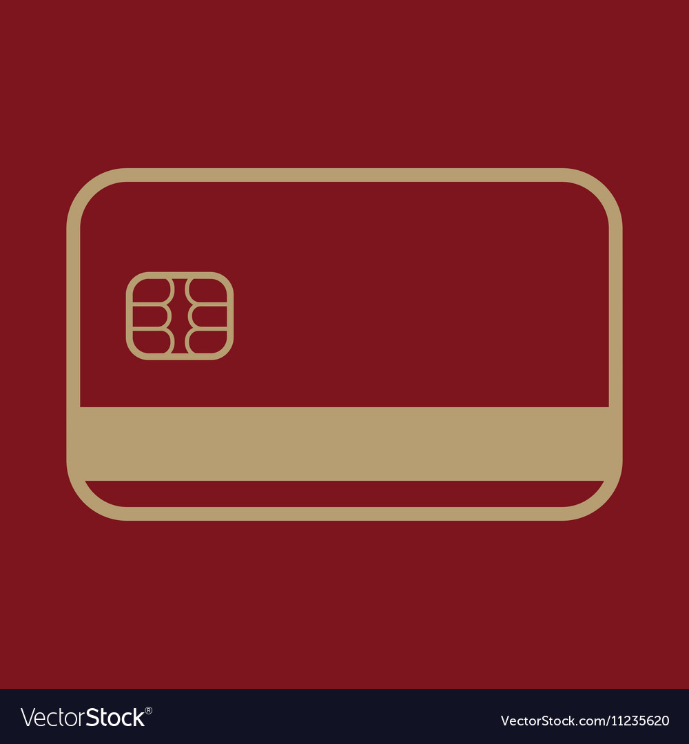 The credit card icon Bank Card symbol