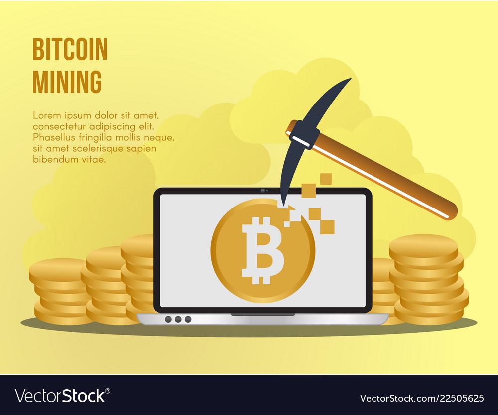 Bitcoin mining concept design template