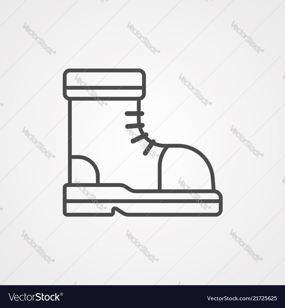Boot icon sign symbol