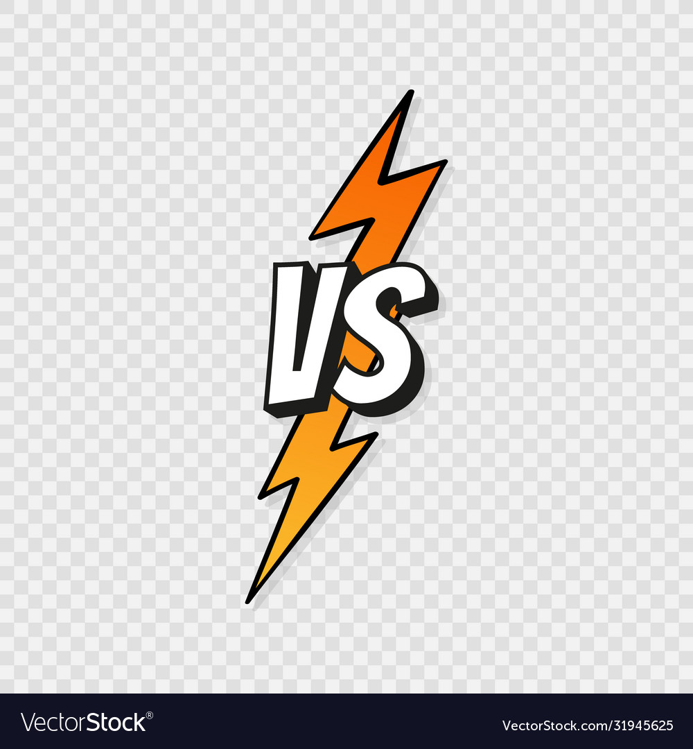 Concept Vs Fight Versus Sign Gradient Style With Vector Image
