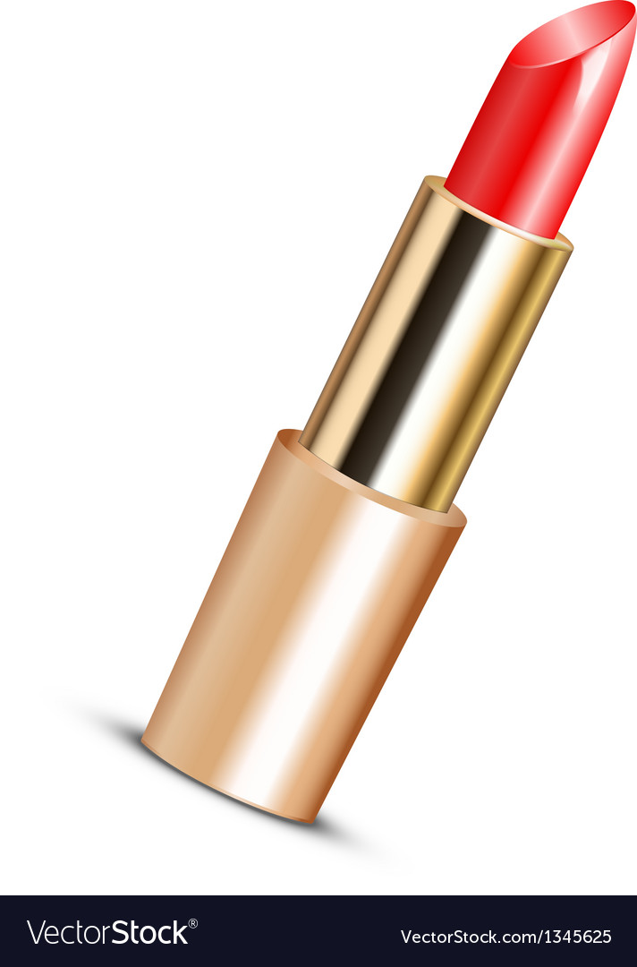 Red lipstick vector image