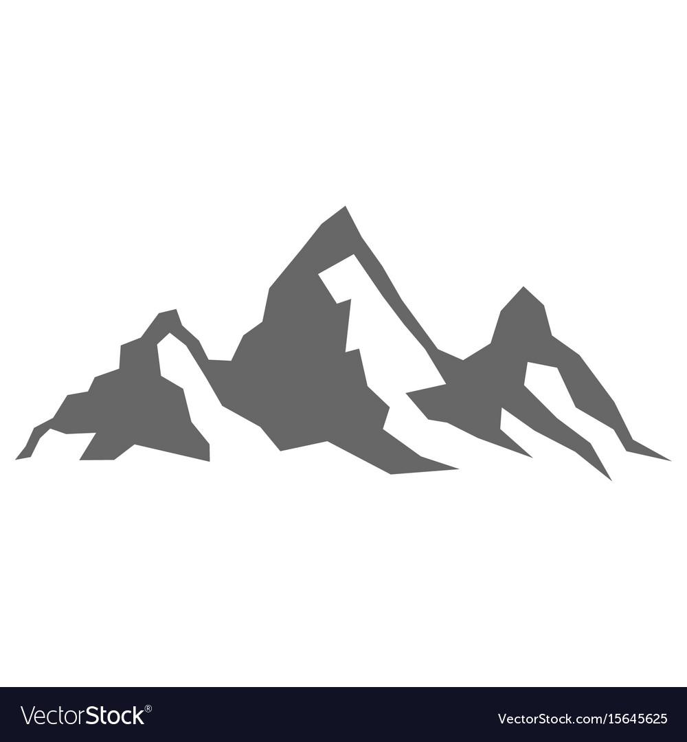 rock mountain silhouette royalty free vector image rh vectorstock com mountain vector logo mountain vector ai