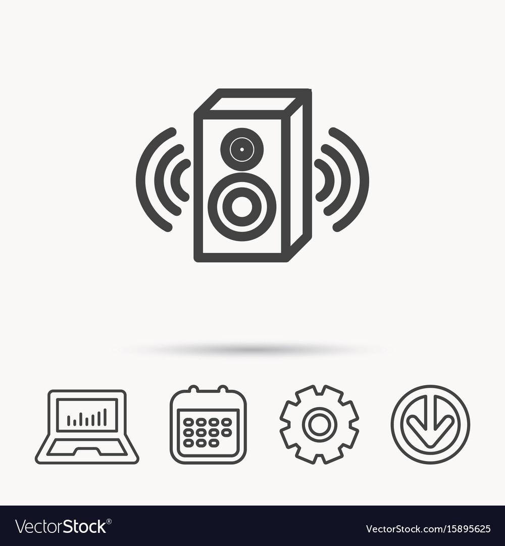 Sound icon musical speaker sign