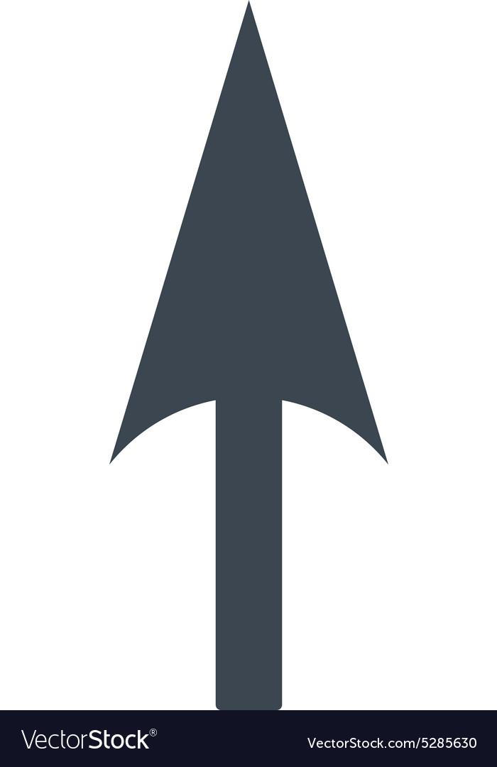 Arrow Axis Y flat smooth blue color icon