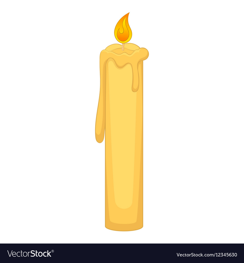 Birthday Candle Icon Cartoon Style Vector Image
