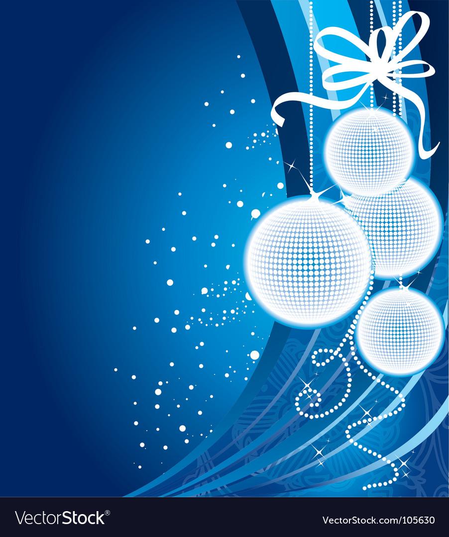 Christmas back blue
