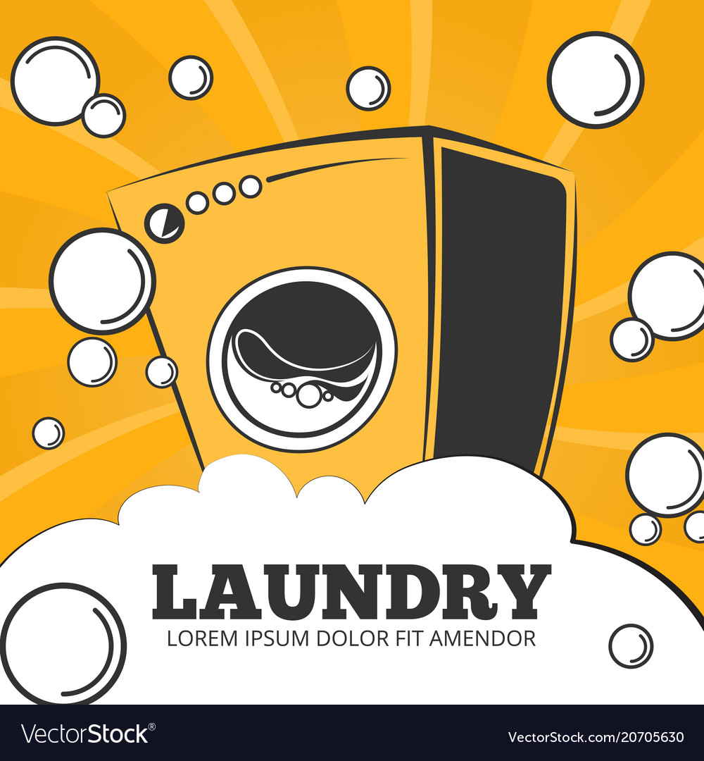 Cleaning service and laundry concept