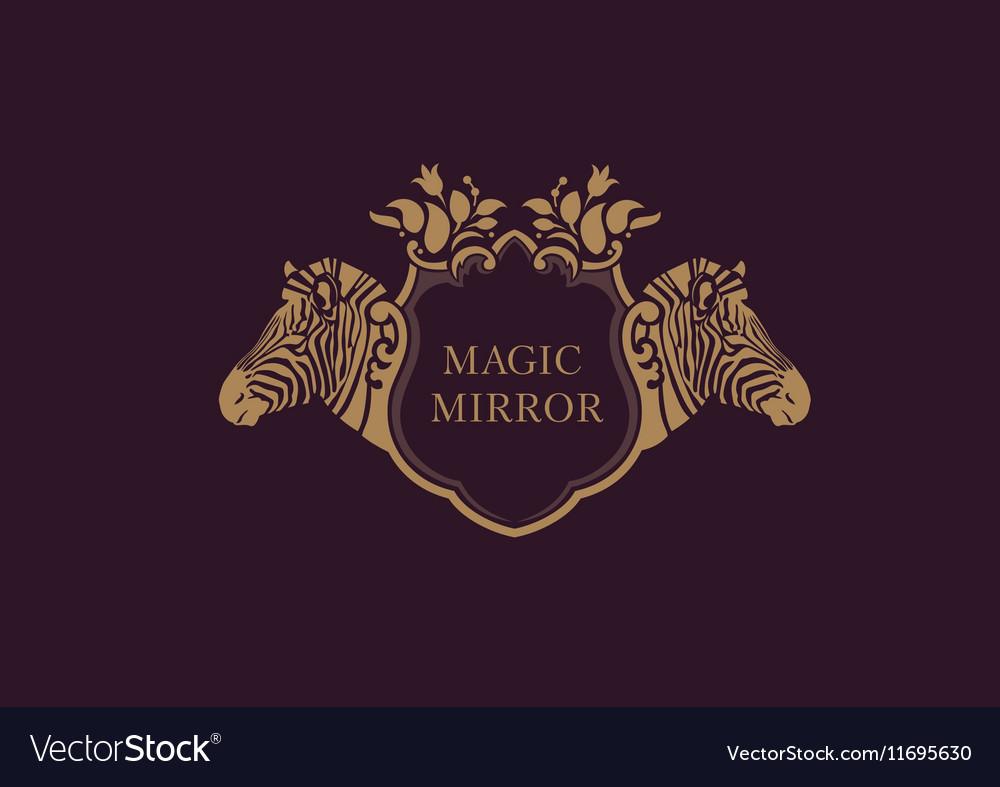 Creative emblem of the magic mirrorzebra