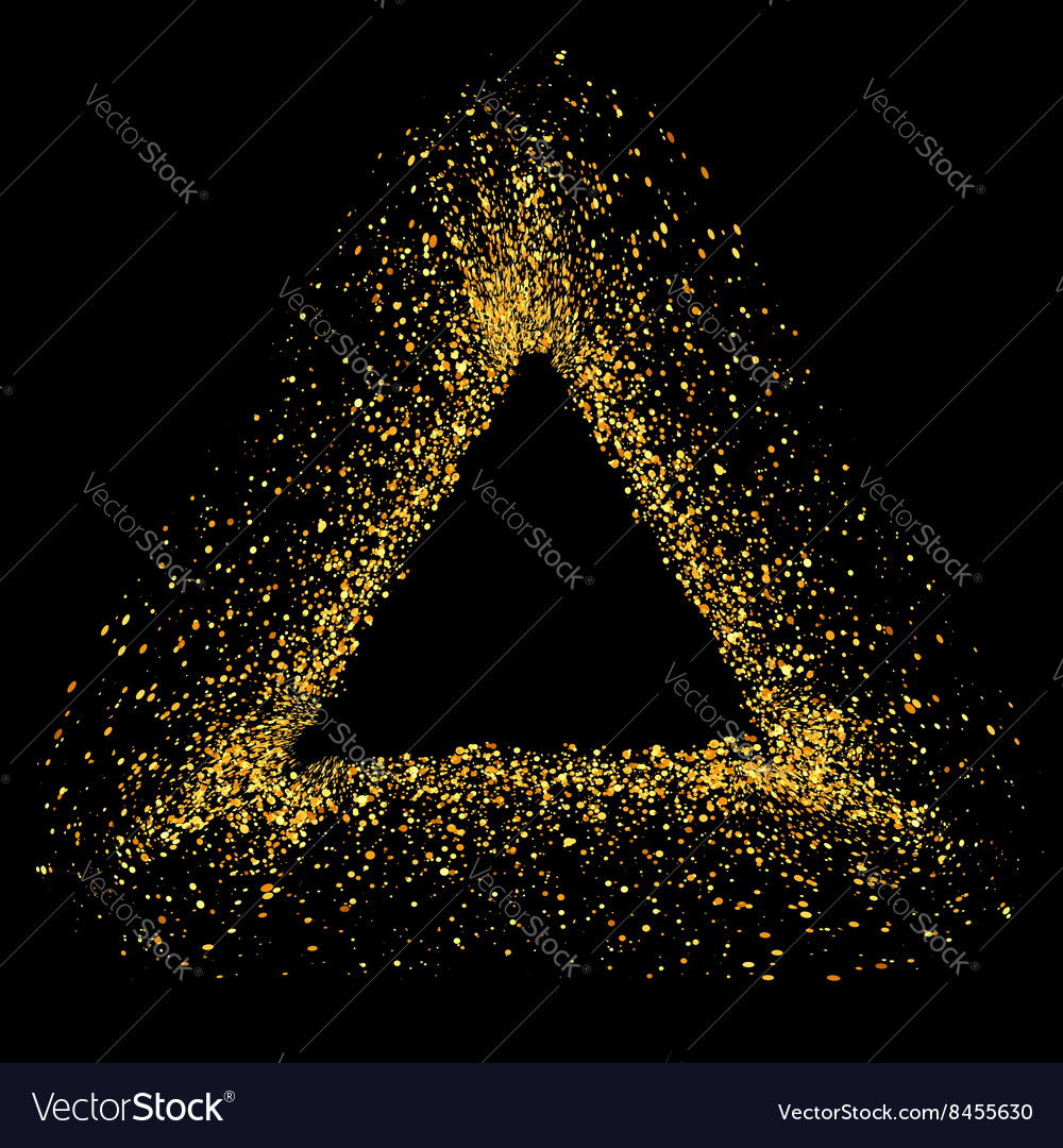Gold Triangle Frame